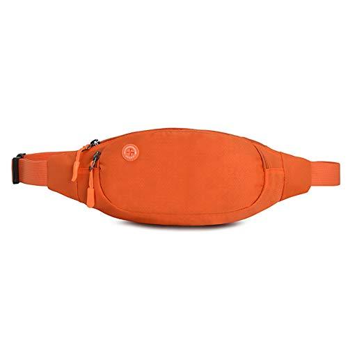 Cdet 1x Sporttasche Bauchtasche Hüfttasche Einfarbig Herren Damen Running Belt TascheHalter militär gürtel Wandern Camping Laufen (Orange)