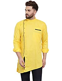 Benstoke Men's Cotton Straight Short Kurta