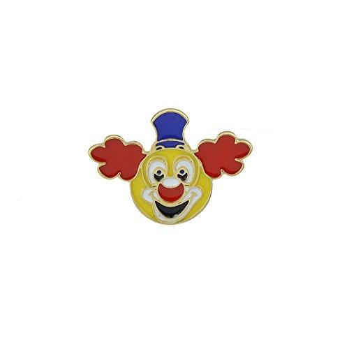 Kostüm Joker Comic Stil - Feelontop® Bunte Emaille Funny Clown Kopfform Kleine Brosche mit Schmuckbeutel