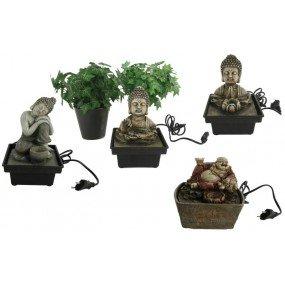 """Brunnen, """"Buddha"""",aus Polyresin Maße:13x13x18cm/13x10x14cm verschiedene"""