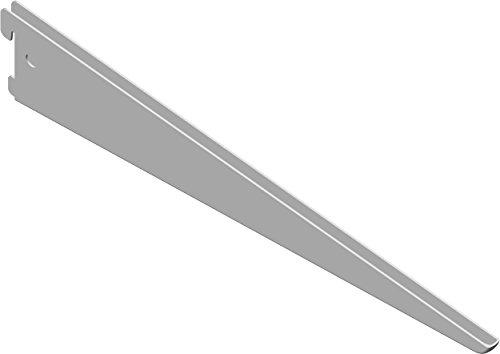 Element System U-Träger Regalträger 2-reihig, 2 Stück, 5 Abmessungen, 3 farben, lange 37 cm für Regalsystem, Wandschiene, weiß, 18133-00037