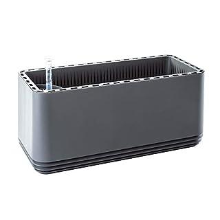 AIRY Box - Luftreiniger Blumentopf für Allergiker - Patentierter Pflanzen-Topf als natürlicher Raumluftfilter gegen Schadstoffe, Haus-Staub, Pollen, Geruch (Stone Grey)