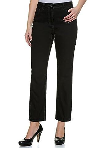 GINA_LAURA Damen bis Größe XXL | 5-Pocket-Jeans Carla | High Waist | Hoher Bund, Straight-Leg | Stretch-Denim | darkblue-denim black denim 40 698805