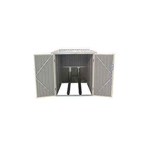 Gardiun KIS12968 - Caseta Metálica para Bicicleta Veloc I X2, 2.81 m² Exterior