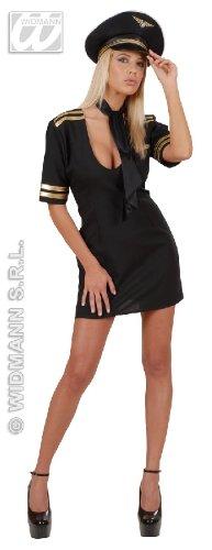 KOSTÜM - SEXY PILOTIN - Größe 42/44 (L) (Uniform Stewardess)