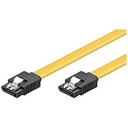 Goobay 95021 S-ATA Datenkabel für HDD, SDD, 6 Gbits, SATA L-Typ Stecker auf SATA L-Typ Stecker, Länge 50cm