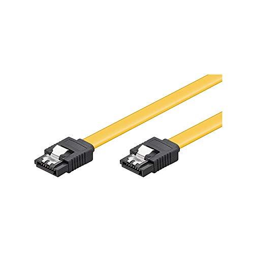 Goobay 95021 S-ATA Datenkabel für HDD, SDD, 6 Gbits, SATA L-Typ Stecker auf SATA L-Typ Stecker, Länge 50cm - Computer Stromkabel Winkel