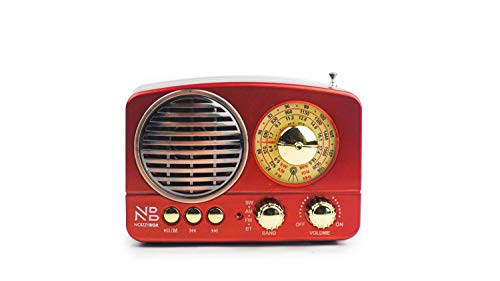 Buy Noizzy Box Retro XS Vintage Retro Classic Portable Bluetooth Speaker with LED Light and Display, FM Radio, Support Micro TF SD Card, USB Input, AUX Line-in (Wine Red) online in India at discounted price