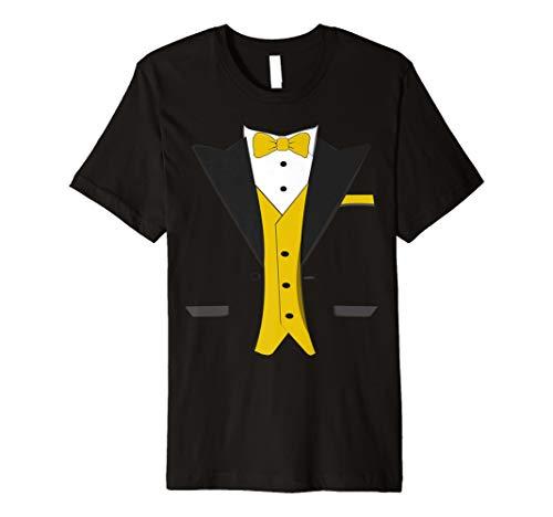 Tuxedo Halloween Hochzeit Bräutigam Funny orange Kostüm T-Shirt