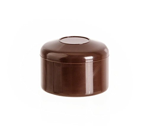 5 Stck. capuchon pour poteau rond 1_1/2 marron plastique Bouchons tube Bouchons