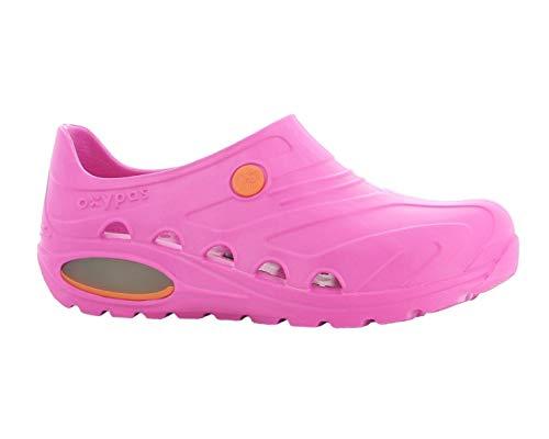 Oxypas Oxyva Lightweight, scarpe per personale sanitario, leggere, antiscivolo, in etilene vinil acetato (EVA); assorbono gli urti e supportano la postura, Blu