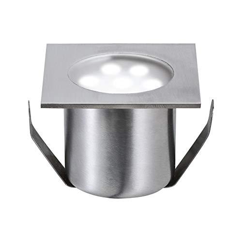 Paulmann 98870 Bodeneinbauleuchten-Basisset Special Line Einbaustrahler Mini LED Spot Edelstahl Eckig 4er Set 4x0,6W 230/12V 105 VA inkl. Leuchtmittel -