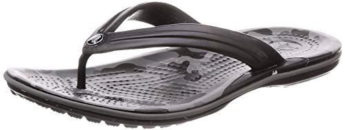 crocs Unisex-Erwachsene Crocband Seasonal Graphic Flip U Clogs Grau (Slate Grey/Black 000) 43/44 EU