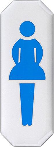 Meister Klebeschild Symbol: Damentoilette - 107 x 40 mm - 3D-Effekt / Beschilderung / Infoschild / Türschild / Gewerbekennzeichnung / Grundstückskennzeichnung / Orientierung / 506350