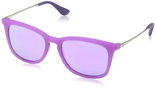 Ray Ban Unisex Sonnenbrille RJ9063S, Mehrfarbig (Gestell Silber, Gläser: Violett Verspiegelt 70084V), Medium (Herstellergröße: 48)