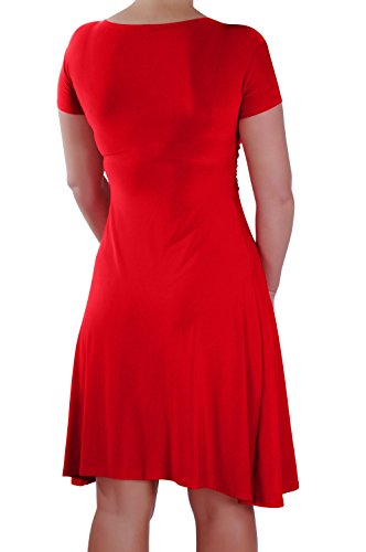 Eyecatch - Rosa Grecque Style Robe Portefeuille Rouge