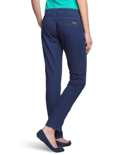 Wrangler Damen Jeans W25CP737A Tapered Fit (Karotte) Niedriger Bund Blau (clear water 37A)
