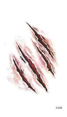 Halloween Dress Up Narben Party Dress Up Requisiten Klebrige Wunden Realistische Blutmuster Narben Narben T-Shirt X-52 (105 * 60 mm) Einheitsgröße -