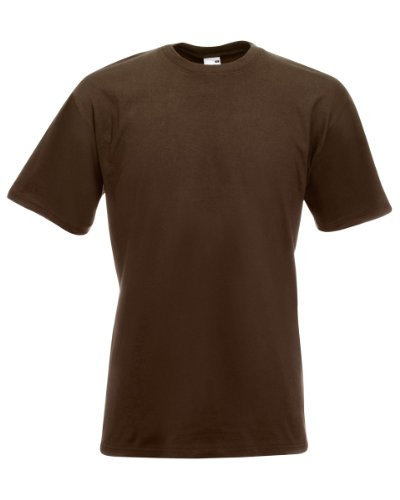 Fruit Of The Loom 61044 Mens Short Sleeve Super Premium T-Shirt Tee - Chocolate - 2X-Large (T-shirt 2x Xxl)