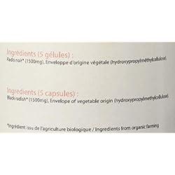 Belle&Bio - Radis Noir Bio - 120 gélules - 1200 mg/jour - Digestion - Certifié Bio par Ecocert - Fabriqué en France