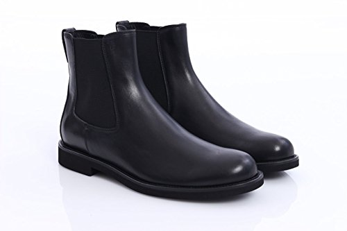 <span class='b_prefix'></span> TOD'S ANKLE BOOTS IN BLACK LEATHER WITH ELASTICS, Mens.