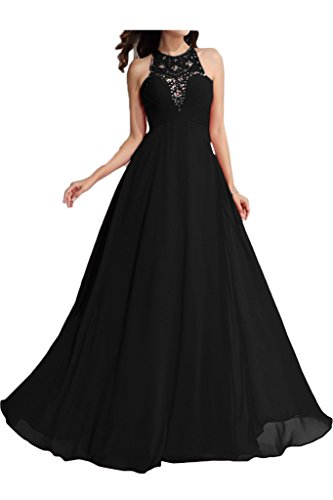 ivyd ressing robe fashion perles a col-ligne ronde fixe Soirée Party robe robe Schwarz
