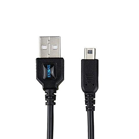 Exlene® Nintendo 3DS USB Câble d'alimentation Chargeur Jouer pendant la charge pour Nintendo 3DS, 3DS XL, 2DS, DSi, DSi XL -4ft / 1.2m (noir)