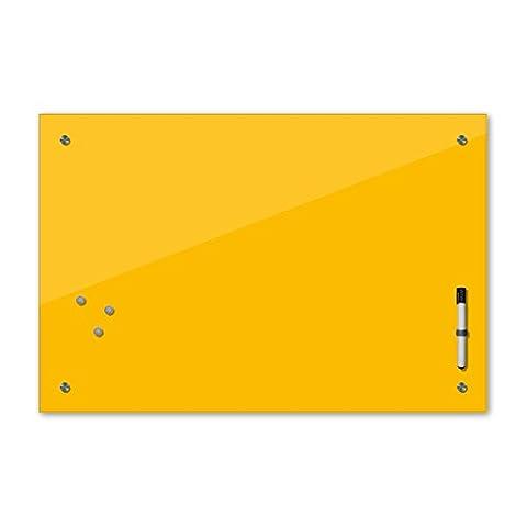 Memoboard 60 x 40 cm, 24 Farben - gelb -