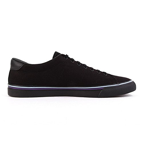 Fred Perry Underspin Canvas Black Blue Skin B9090102, Turnschuhe Noir