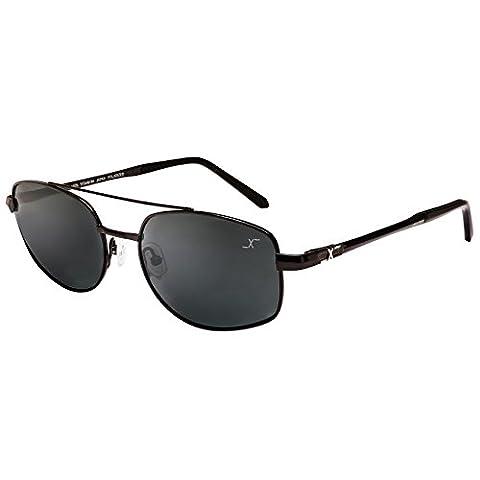 Xezo UV 400 Titanium Polarized Sunglasses, Black/chrome, 0.7 oz
