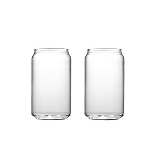 Lot de 2 gobelets amusants en verre transparent Cola Canette pour bière et boissons de 35,6 g