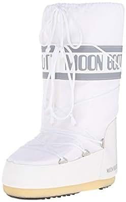 Moon Boot Nylon Unisex-Adult Snow Boots, White (Bianco), 2.5-5 UK (35-38 EU)