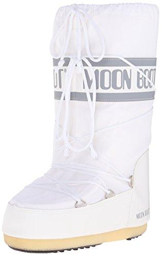 Moon-boot Unisex-Kinder Schneestiefel, Weiß (Bianco), 39/41 EU