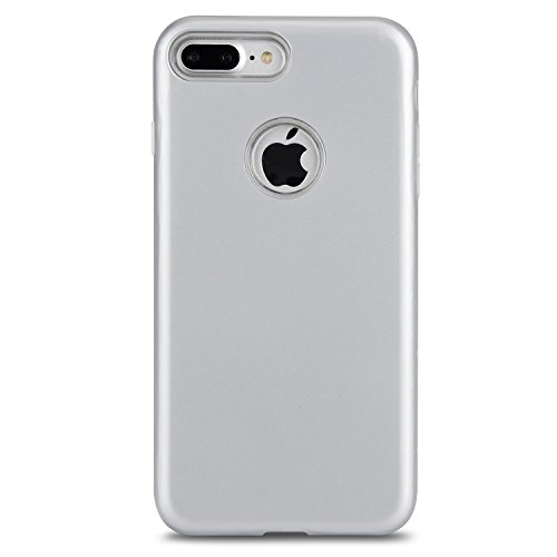 Hülle für iPhone 7 plus , Schutzhülle Für IPhone 7 Plus Ultra Thin Lightweight Dual Layer Hybrid Schutzhülle ,hülle für iPhone 7 plus , case for iphone 7 plus ( Color : Rose-carmine ) Silver