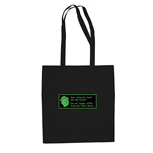 10 Kostüm Top Videospiel - Planet Nerd Radioactive Interest Level - Stofftasche/Beutel, Farbe: schwarz