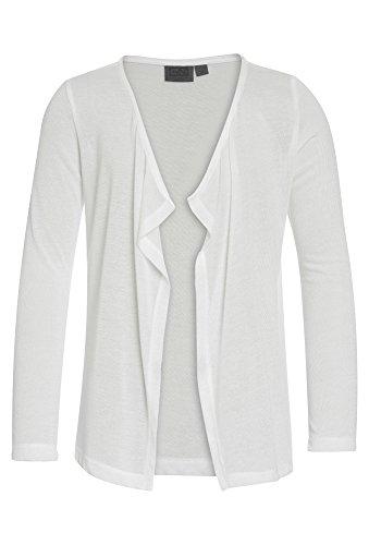 GATO NEGRO Strickcardigan - Mädchen unifarbene Strickjacke Langarm Mädchenjacke süß zum Kleid weiß,158/64