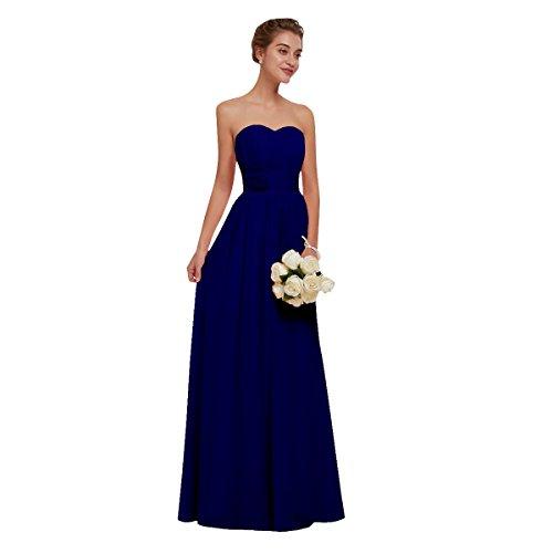 Beauty-emily abiti da sera in chiffon abiti da cerimonia per abiti da damigella rosa abiti da sposa blu reale, taglia 38