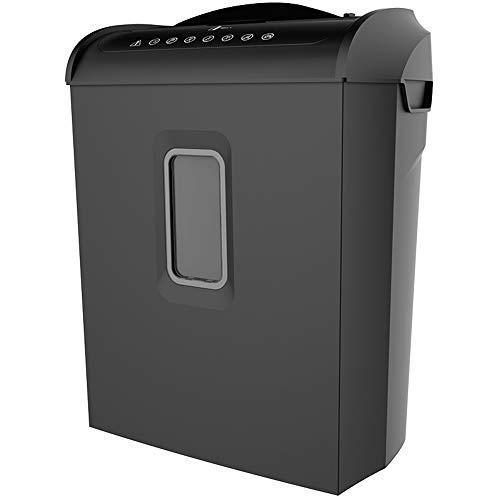 Shredders Trituradora Oficina/Hogar Confidencial de 4 Niveles 14L Tamaño del Papel Capacidad Disco/Tarjeta/Grapa Roto (Color : Negro)