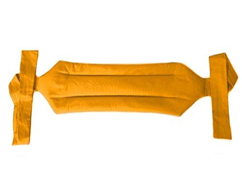 FASCIA DORSALE TERMICA -Giallo- Riscaldante con Semi di Lino per Collo, Spalle, Schiena, Addominale, Cervicale, Lombare, Scaldacollo, Antistress, Effetto Massaggiante, Riscaldabile in Microonde