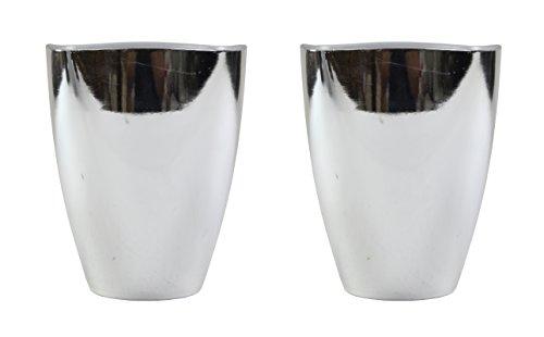 Decoline Kunststoff Blumentopf 2 Stück silber