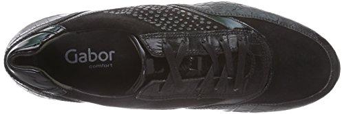 Gabor Shoes 36.345 Damen Low-Top Sneaker Schwarz (schwarz (schwarz) 47)