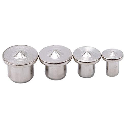 YSINFOD Dübel und Zapfenspitzen, Holz, 6 mm, 8 mm, 10 mm, 13 mm Zapfenzentrierset -
