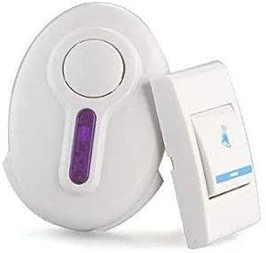 PAYRUNS Plastic High Range Cordless Wireless Door Bell,Door Bell for Home (White)