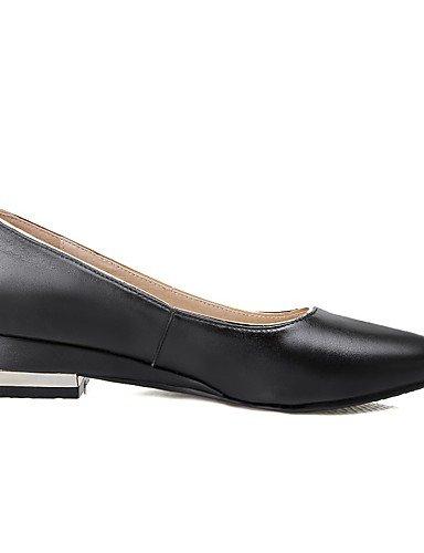 WSS 2016 Chaussures Femme-Bureau & Travail / Décontracté-Noir / Blanc-Gros Talon-Confort / Bout Pointu-Chaussures à Talons-Cuir white-us6 / eu36 / uk4 / cn36