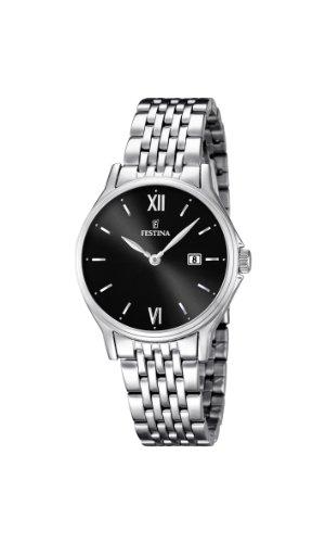 Festina  0 – Reloj de cuarzo para mujer, con correa de acero inoxidable, color plateado