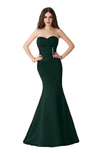 Sunvary taglio Slim Pageant sirena raso per abiti da sera, abiti in cartone di celebrità Green