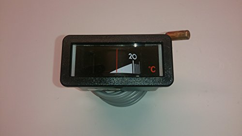 Kessel-Thermometer 58 mm x 25 mm, Einbaulage waagrecht, Anzeigebreich 0 - 120 °C m. Kapillarleitung 1500mm