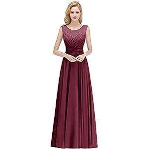 Babyonlinedress® 2019 Elegant Ärmellos Festliches Kleid Langes Abendkleid Brautjungfernkleid Ballkleid