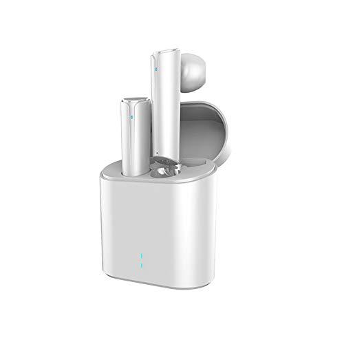 TWS True Wireless Bluetooth 5.0 Kopfhörer Stereoanlage im Ohr mit 24 Stunden Spielzeit Easy Pair Sport Sweatproof Mini Bluetooth Ohrhörer Stereoanrufe und Eingebautes Mikrofon (White)