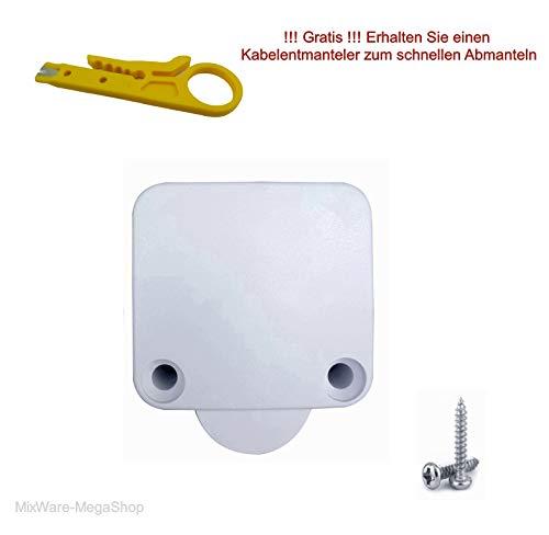 Einbau Barschalter, Schnappschalter, LED (Niedervolt), 230V (Hochvolt) Ein/Aus, Truhenschalter, Türschalter, Schrankschalter - Tür-endschalter